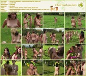 Sunflower Dancing Girls - naturism