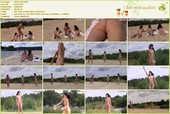 Girls playing Frisbee - News from the beaches Kiev - naturists movie x-nudism 2010-03-01 HD