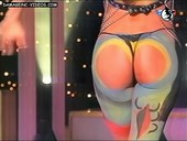 Iliana Calabro round ass cheeks in thong